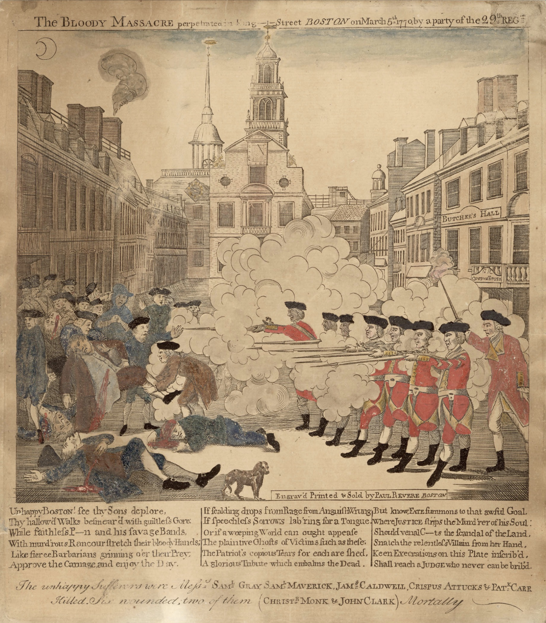 Paul Revere's engraving is the most familiar engraving of the Boston Massacre.
