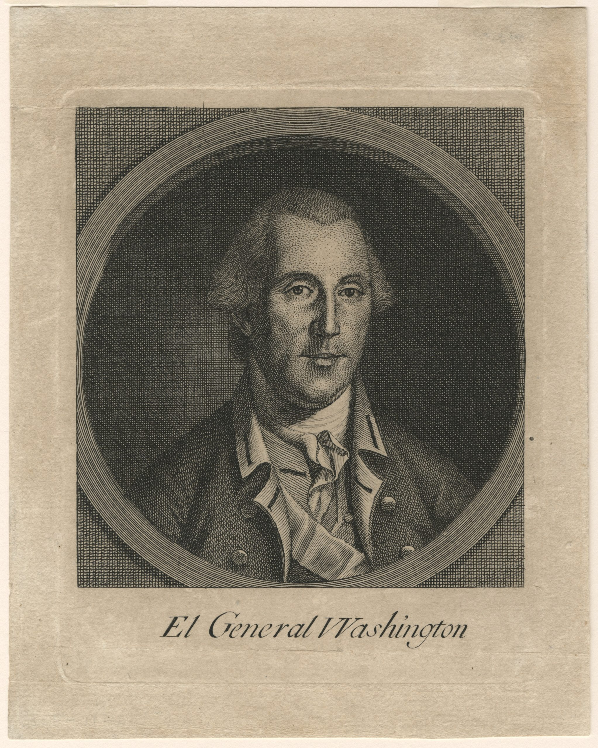 El General Washington is among the rarest prints of George Washington.