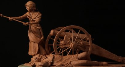 Margaret Corbin, portrayed in this sculpture by Tracy H. Sugg, was a heroine of the people's revolution.