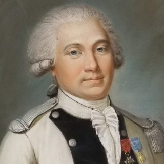 Recent acquisition of a pastel portrait of a French officer of the Revolutionary War