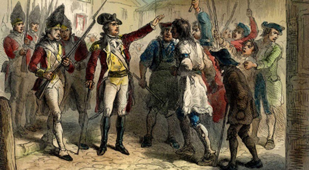 Image of Regulators in Pre-Revolutionary North Carolina.